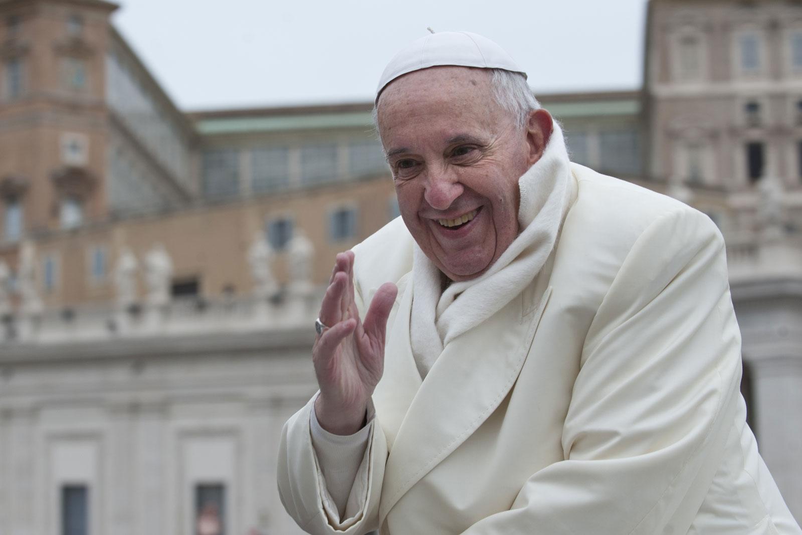 Papstaudienz mit Papst Fr